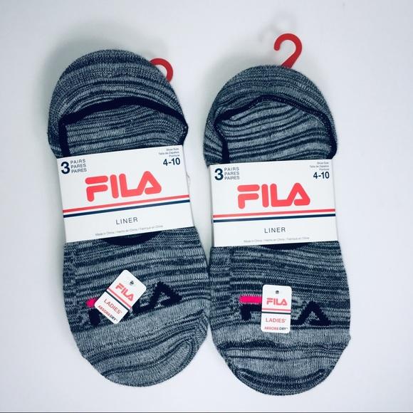 New Women's Fila Lot of Liner Socks Shoe Size 4 10 NWT